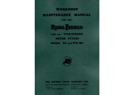 Royal Enfield Flying Flea workshop manual