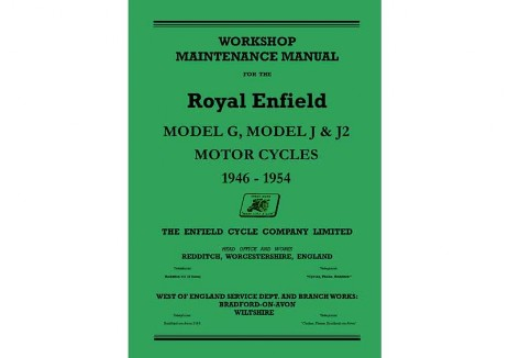 Royal Enfield Model J and J2 workshop manual