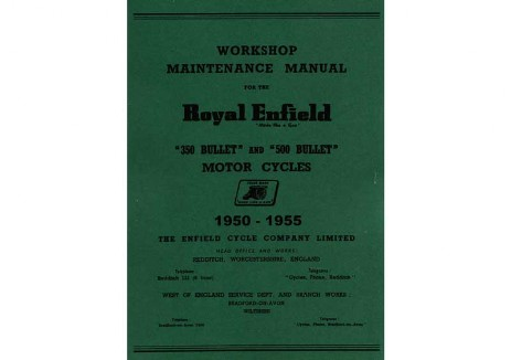 350 & 500cc Bullet workshop manual Redditch