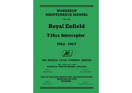 Royal Enfield MKIA MK1A Interceptor workshop manual