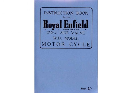 Royal Enfield War Department 250cc Model D Handbook