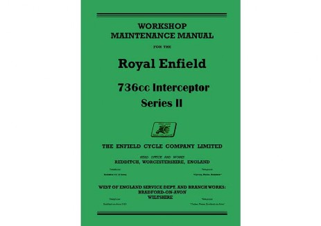 Royal Enfield Interceptor Series 2 workshop manual